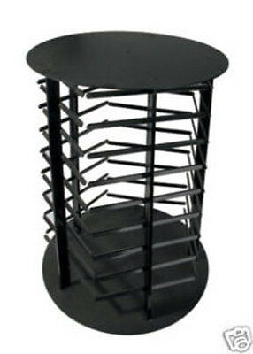 Earring Display Stand Revolving 5 Sided Black Acrylic Rotating Holds 180 Cards Display Stand Black Rotating Earring