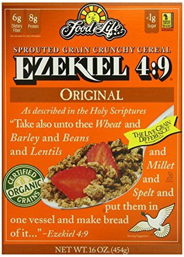6-Pack Food For Life Ezekiel 4:9 Organic Sprouted Whole Grain Cereal 16 Oz Boxes
