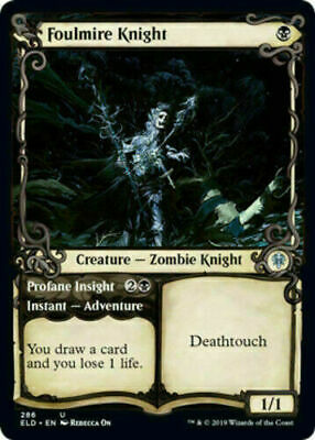 MTG - Foulmire Knight Throne of Eldraine Showcase NM/M x1 Magic FAST SHIP