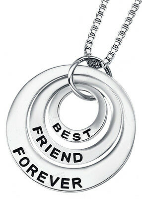 Birthday Christmas Friend Gift Girl's Women's Necklace Best Friend Forever (Best Birthday Gift For Best Friend Girl)