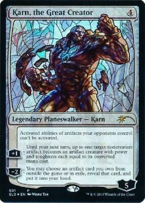 Karn, the Great creator x1 stained glass foil planeswalker - mtg secret lair