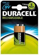 Duracell Rechargeable Batteries 9V