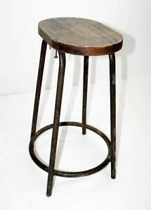 shop stool top topped barn seating home industrial vintage wooden