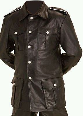 German Panzer / U-Boat Brown Leather Coat- All Sizes