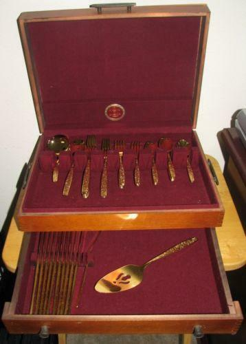Rogers Gold Flatware Set Ebay