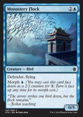 x1 Monastery Flock - Foil MTG Khans of Tarkir M/NM, English