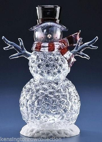 Lighted Acrylic Snowman Ebay