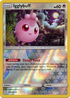 x4 Igglybuff - 168/236 - Uncommon - Reverse Holo Pokemon SM12 Cosmic Eclipse M/N