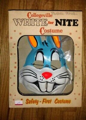 BUGS BUNNY Mask & Costume Collegeville #203 Large (12-14) with Box