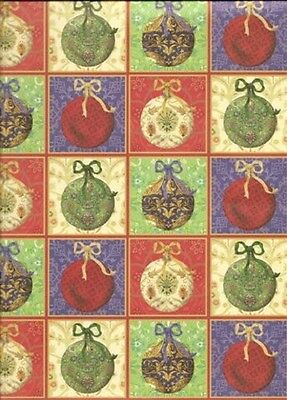 CHRISTMAS BALLS Tree Ornaments 12 x 12 Paper - 2 Sheets ()