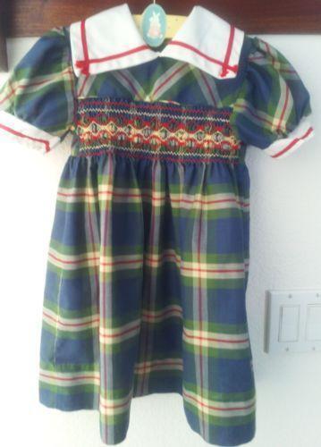 Polly Flinders Smocked Dress Ebay