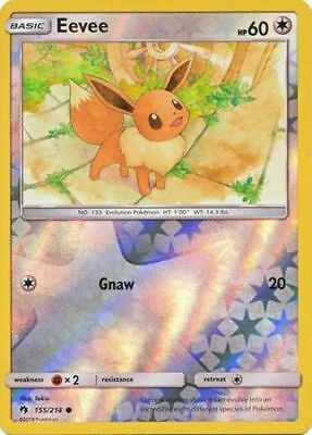 Common Pokemon SM8 Lost Thunder M//NM English x4 Eevee 155//214