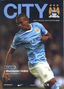 Manchester City V Manchester United Programme