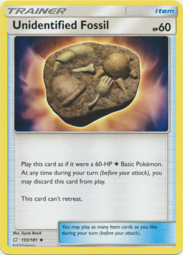 Unidentified Fossil 155/181 Trainer/Item Pokemon SM TEAM UP Single or Playset x4