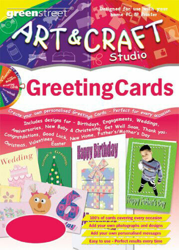 ART & CRAFT - Greetings Cards Studio - Birthday Maker PC Software (CD in Sleeve)