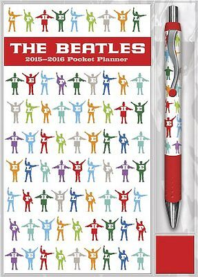 The Beatles 2015 2016 Pocket Planner With Pen Calendar   Collector Item