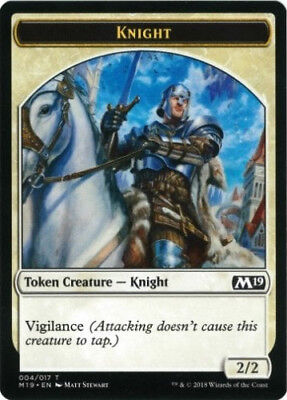 4x Knight Token - MTG Core Set 2019 - NEW