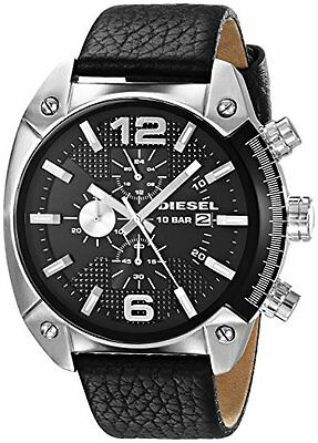 Diesel Men's DZ4341 Chronograph Black Dial Overflow Stainless Steel Watch
