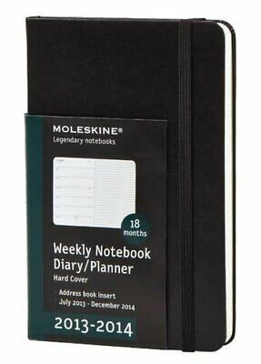 Moleskine 2013-2014 Weekly Planner 18 Month Pocket Black Soft Cover 3.5 X 5