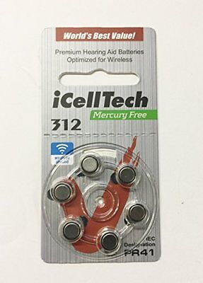 iCellTech Size 312 Hearing Aid Batteries  SHIPPED FROM THE U