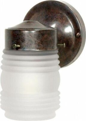 "Nuvo 76-700 - 6"" Porch Light Outdoor Wall Light with Frosted Glass Mason Jar"