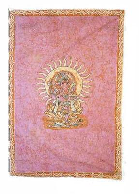 Batik Hanging Wall of Lord Ganesh India 210 x 140 cm Peterandclo 9016