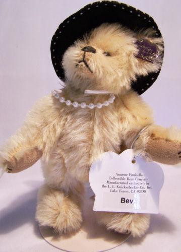 Annette Funicello Collectible Bear Co With Stand Symbol Of The Brand Mickey Mouse Club