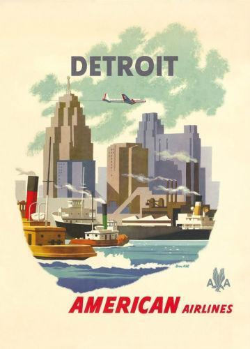 American Airlines Poster Ebay