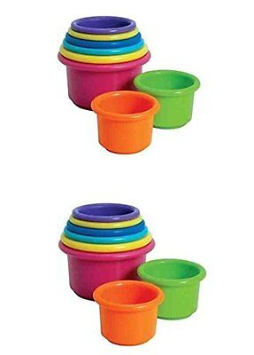 The First Years Stack & Count Cups for Baby or Toddler - 2 Sets for sale  Shipping to India