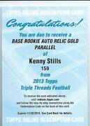 Autographed Rookie Football Card