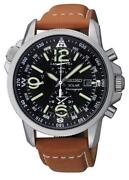 Mens Seiko Watch Leather Band