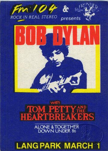 BOB DYLAN Tom Petty 1986 Radio Backstage Pass Brisbane