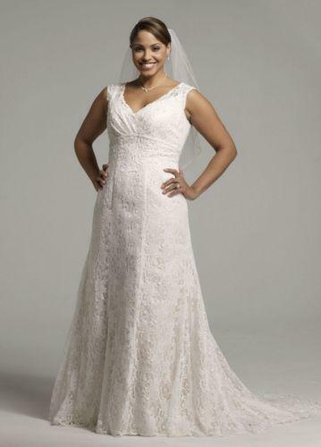 Used plus size 20 wedding dresses ebay for Used wedding dress size 0