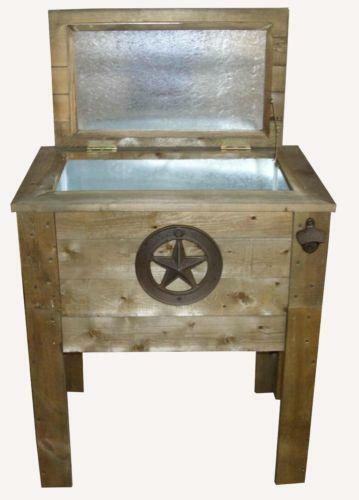 Wooden Ice Chest ~ Wood cooler ebay