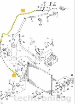 KLIMALEITUNG KLIMASCHLAUCH VW PASSAT B5 3BG 1,9TDI 100PS 130PS BJ.2000-2005 NR1