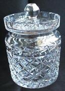 Crystal Biscuit Jar