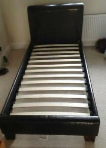 Single Leather Beds Ebay