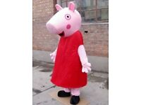 Brand new adult Peppa pig full outfit fancy dress mascot