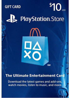 PlayStation Network Gift Card 10 $ USD PSN - PS3/ PS4/ PS Vita | Fast Delivery