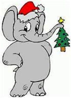 30 Custom Christmas Elephant Personalized Address Labels Elephant Address Label