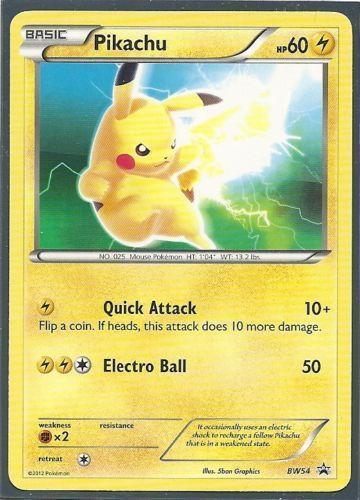 Pikachu Black And White Card Ebay