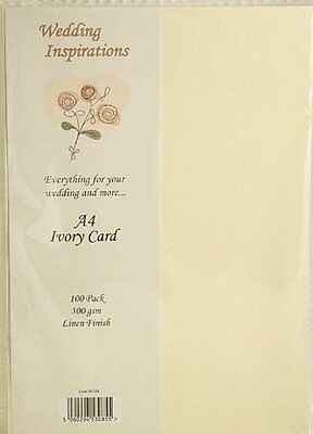 Craft UK 10 A4 sheets of 300gsm craft card (IVORY LINEN)