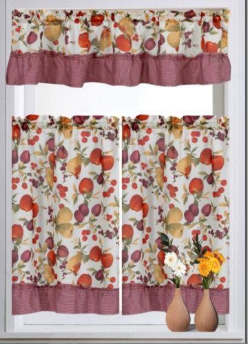 Cherry Kitchen Curtains Ebay