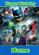 Lego Batman Birthday Card