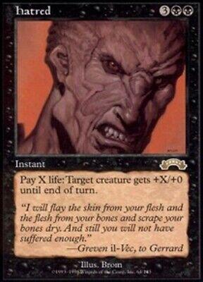 1 x MTG Hatred Exodus - Moderate Play, English