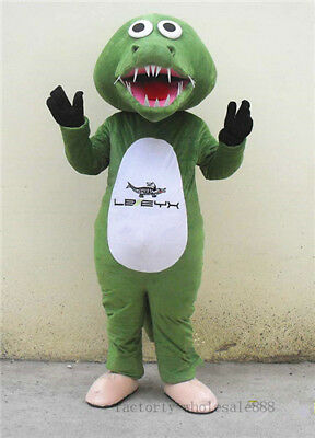 Fat Halloween Costumes 2019 (2019 Crocodile Alligator Fat Mascot Halloween Costume Suit Adult Birthday Party)