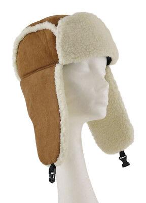 Karnevals Kostüm Wintermütze Ohrwärmer Kalte Ohren Fellmütze  Mütze Velourleder - Kälte Kostüm