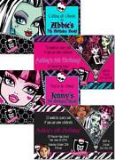 Monster High Ticket Invitations