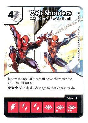 Marvel Dice Masters Spider-Man Web Shooters Spider's best Friend #72 Card & Die (Best Spiderman Web Shooter)