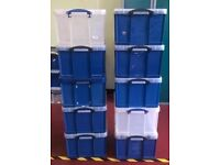 NEW !! Storage Boxes Large Strong 42 Litre Storage Boxes Really useful BOX Box Handy box